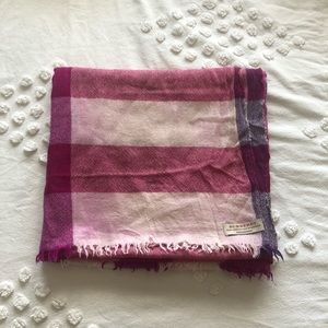 Burberry - Large Check Cashmere Scarf